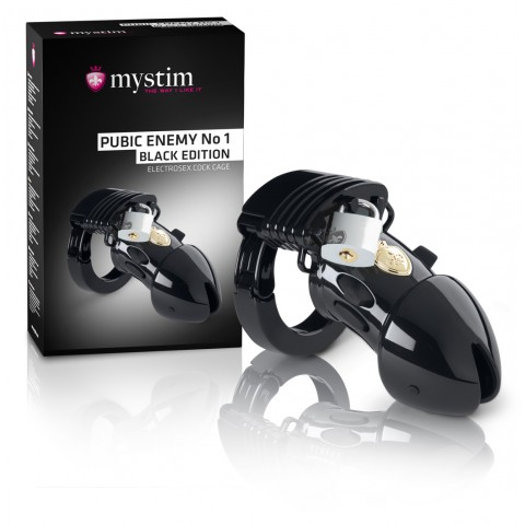 mystim Black Edition PUBIC ENEMY No 1 - elektro péniszketrec